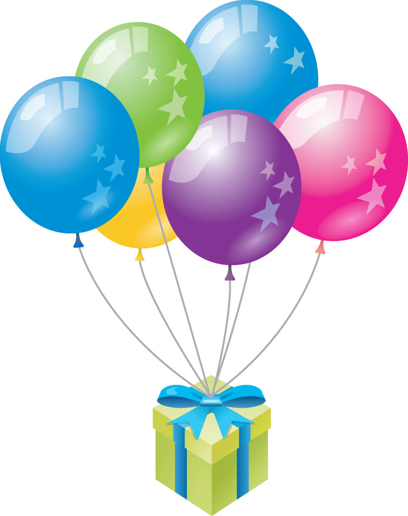 Birthday balloons happy birth - Birthday Balloons Clip Art