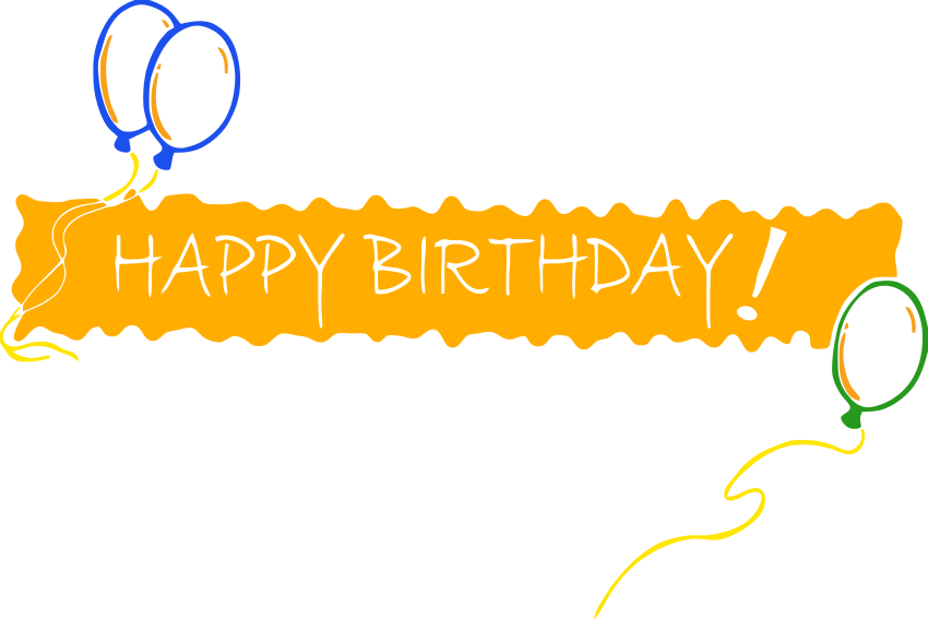 Birthday banner clipart 4 .