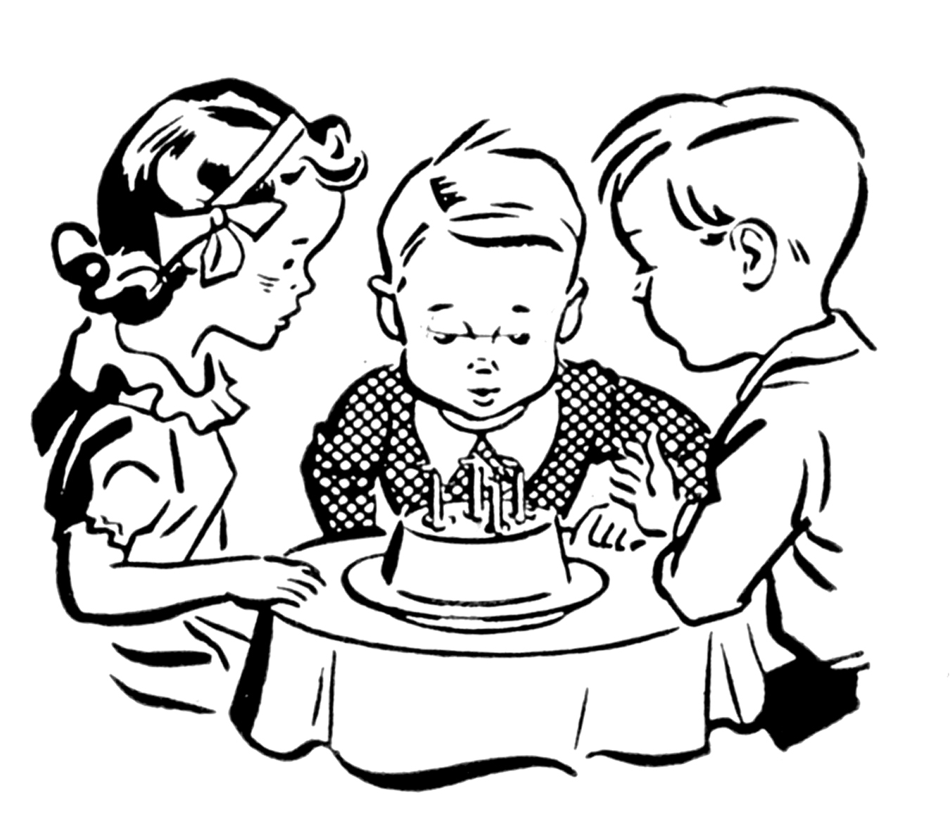 Birthday black and white first birthday clipart black and white