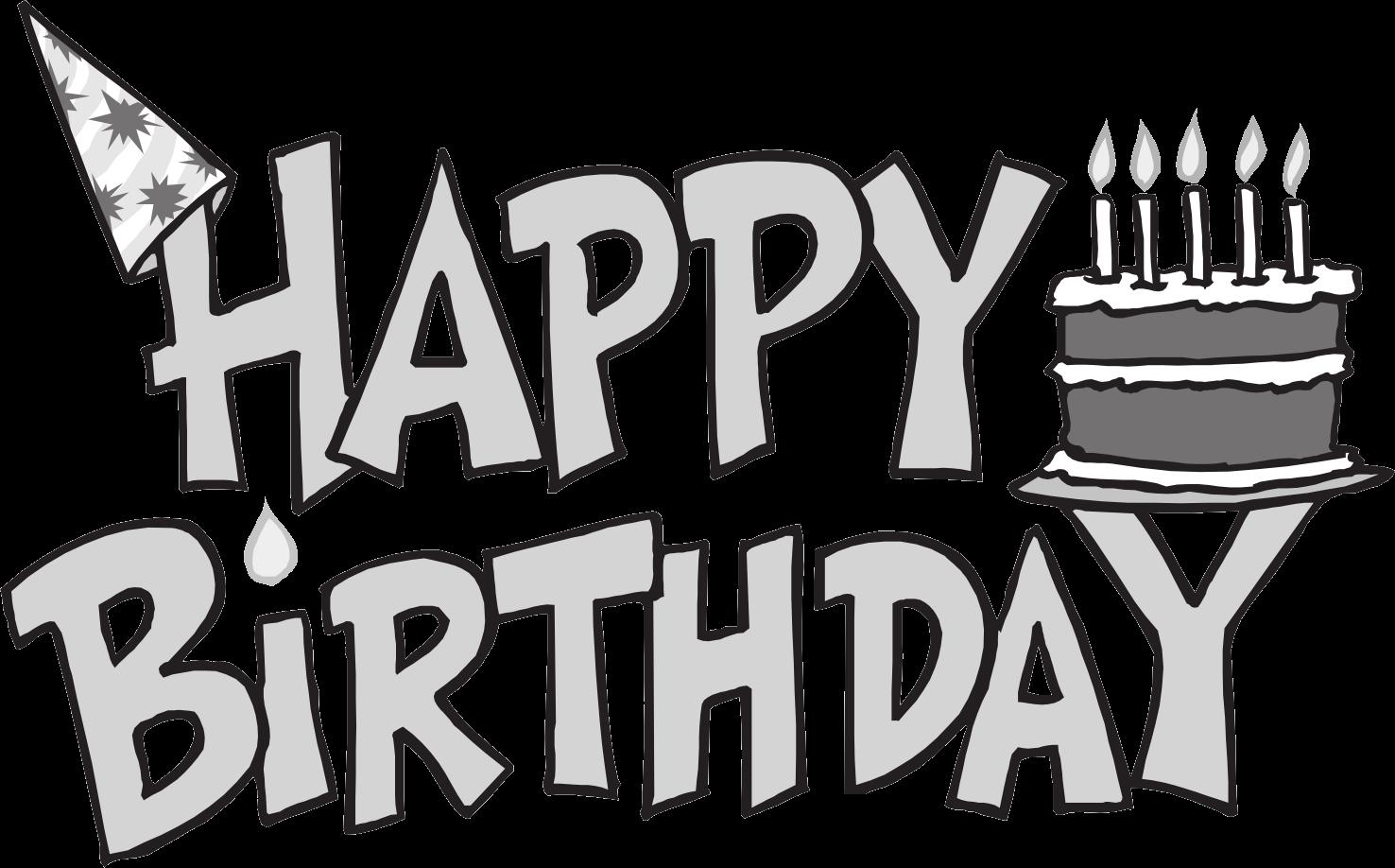 Birthday black and white happy birthday clipart black and white 4