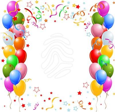 Birthday border clip art tumu - Birthday Border Clip Art
