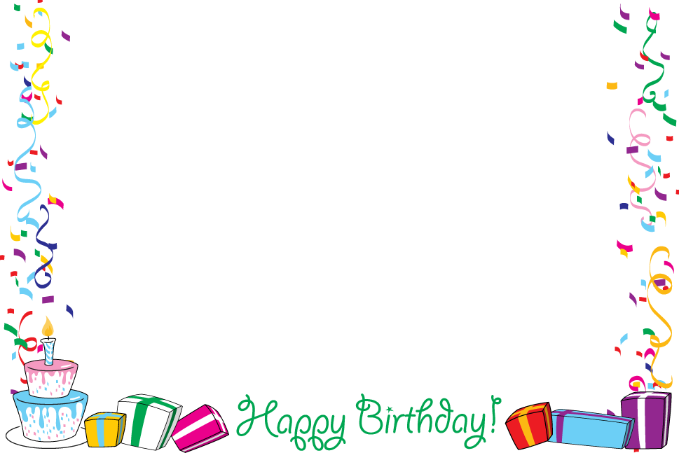 Birthday Border Clipartion Co - Birthday Clip Art Borders