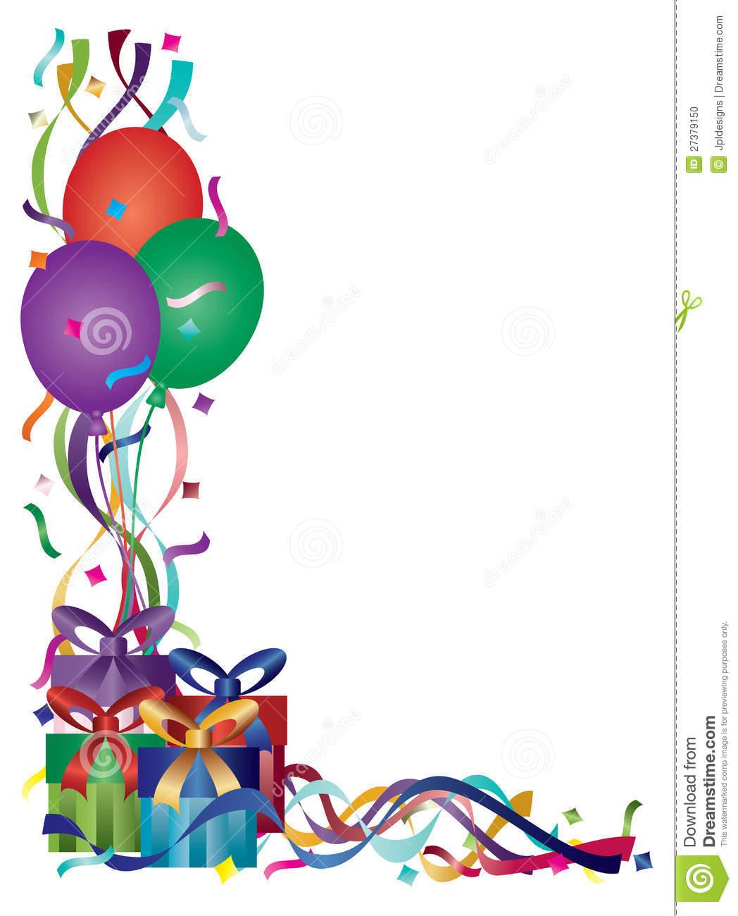 Birthday Borders Panda Free I - Birthday Clip Art Borders