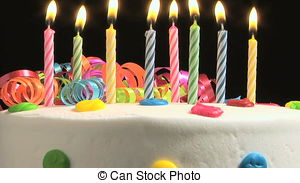 Birthday Cake - Candles on a Birthday ca-Birthday Cake - Candles on a Birthday cake burning down-14