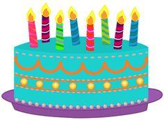 Birthday Cake Clip Art .-birthday cake clip art .-8
