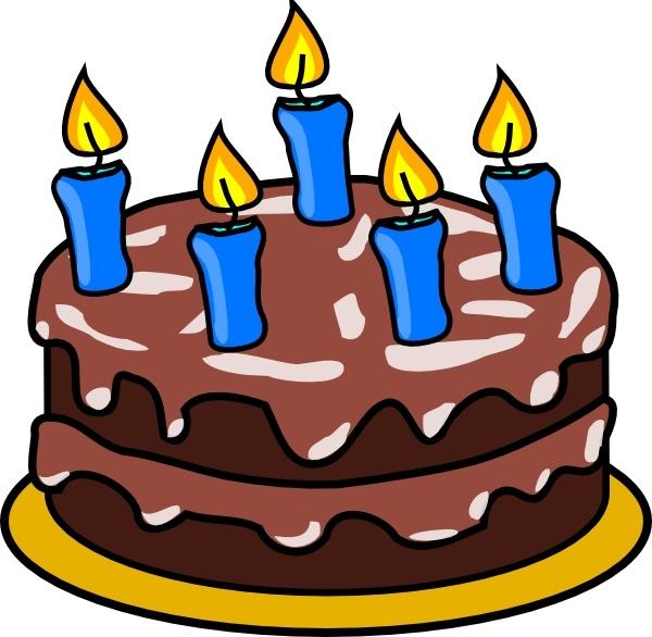 Birthday Cake clip art Free vector 169.38KB