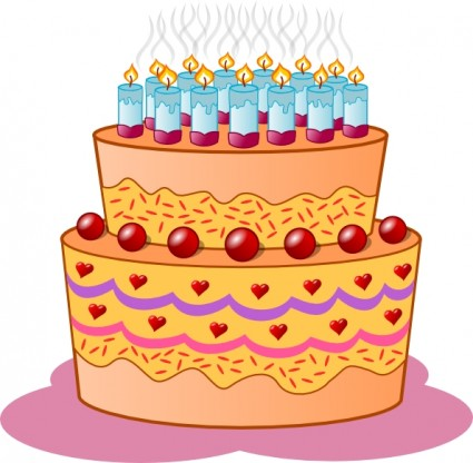 Birthday cake clip art free vector in op-Birthday cake clip art free vector in open office drawing svg 2-15