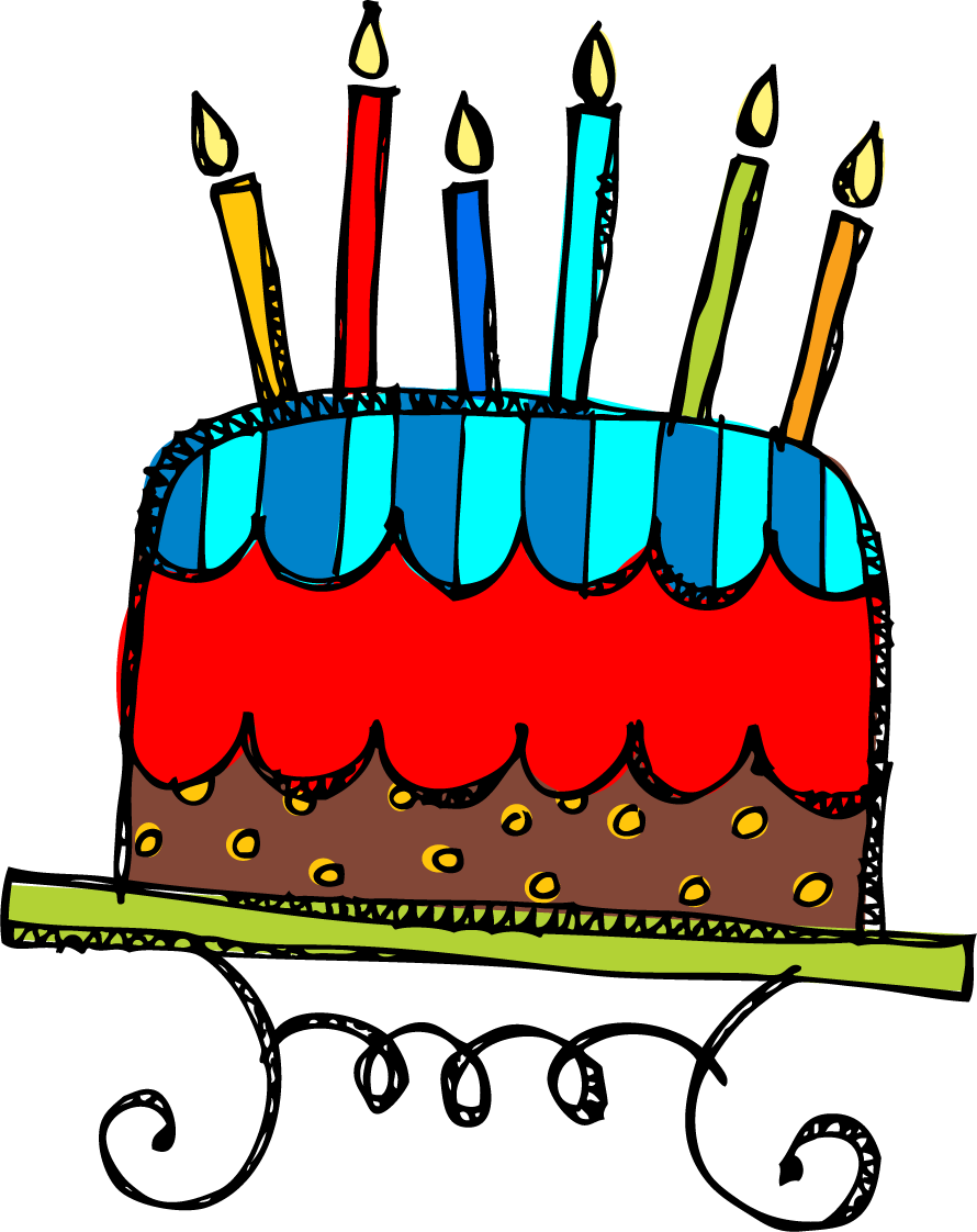 Birthday Cake Clip Art Photo .