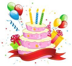 Birthday Cake Transparent Cli - Birthday Cakes Clipart