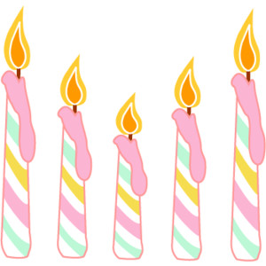 Birthday Candles -Clipart .