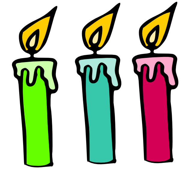 Birthday Candles Clipart . - Birthday Candle Clipart