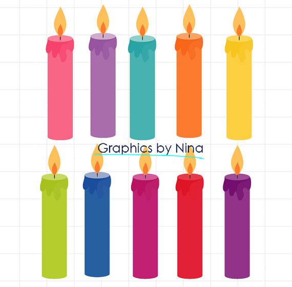 Birthday Candles Clipart. Il_570xn