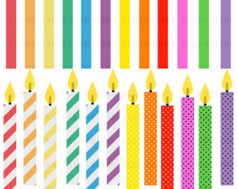 Birthday Candles Digital Clip Art Commer-Birthday Candles Digital Clip Art Commercial Use - Instant Download - DP273-3