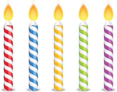 Birthday Candles Vector Art .-Birthday Candles vector art .-4