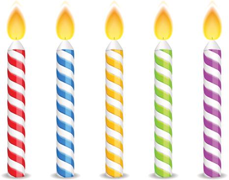Birthday Candles Vector Art .-Birthday Candles vector art .-5