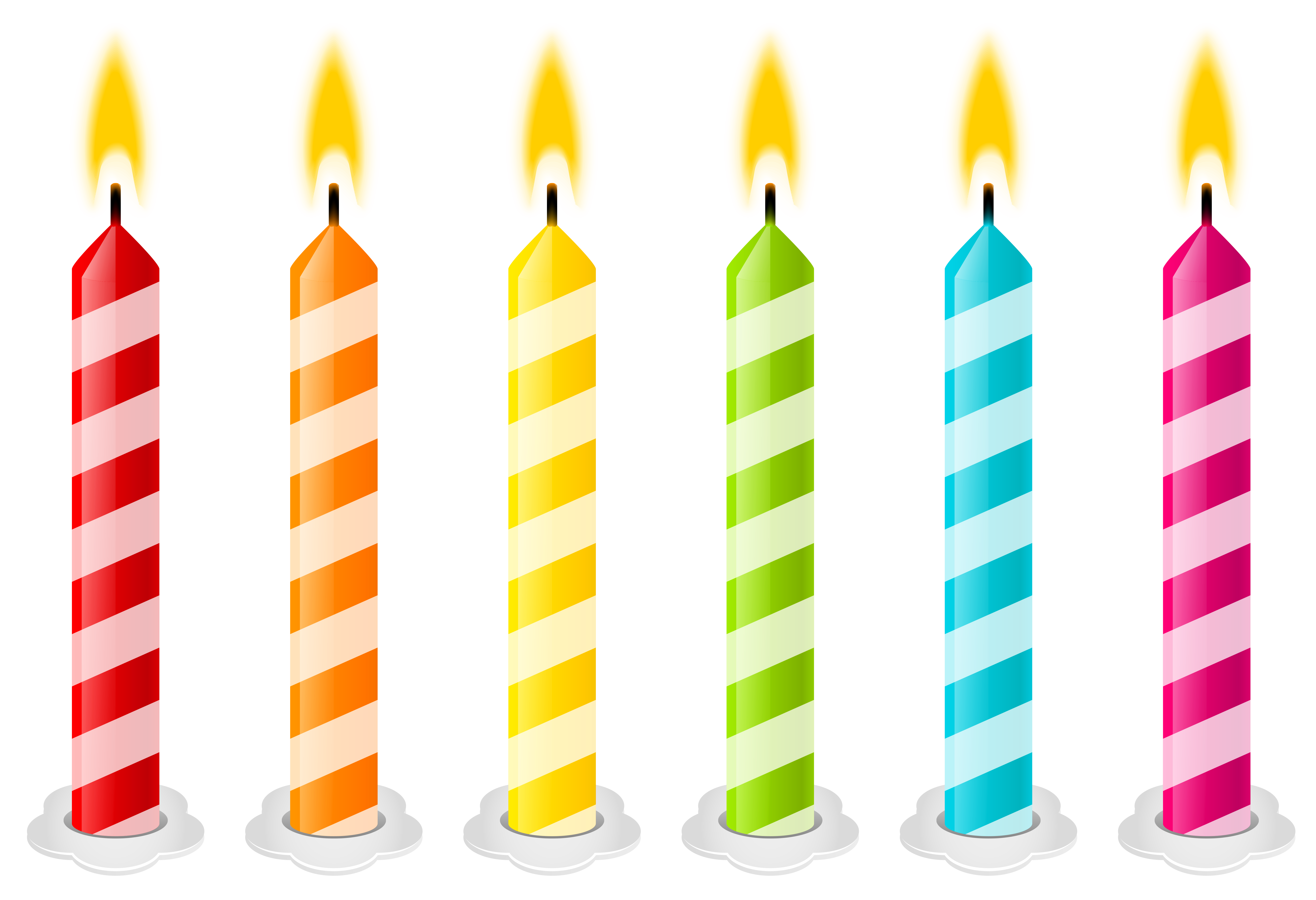 Birthday candles vector .