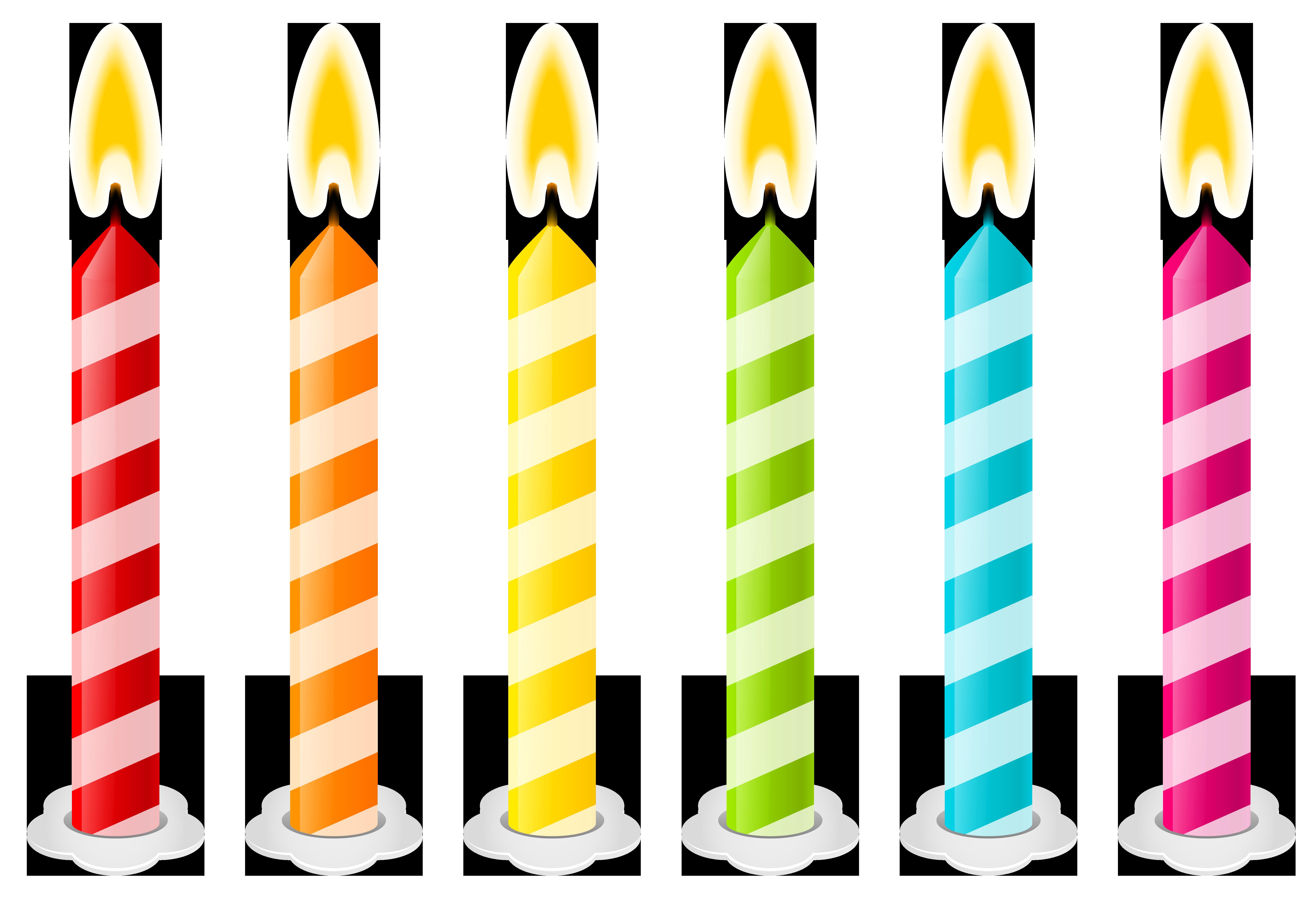 Birthday Candles Vector .-Birthday candles vector .-6