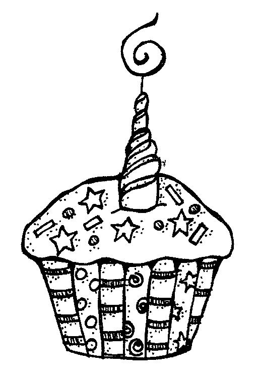 Birthday Clip Art Black And W - Black And White Birthday Clip Art