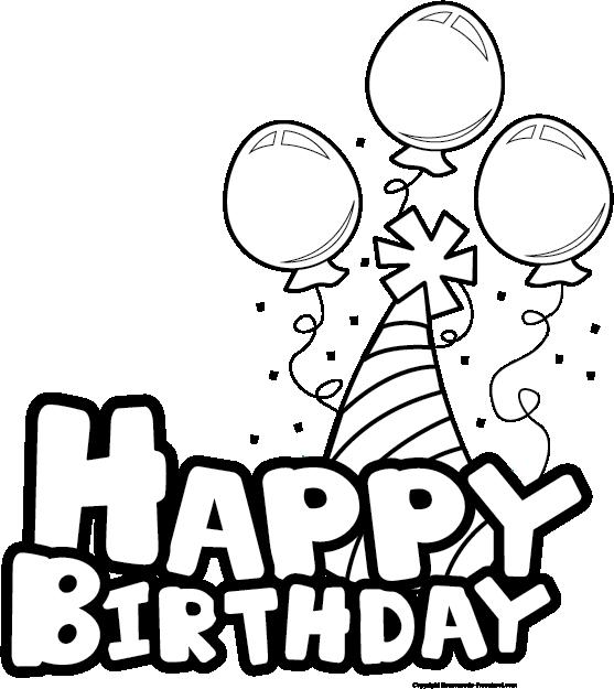birthday clip art black .-birthday clip art black .-7