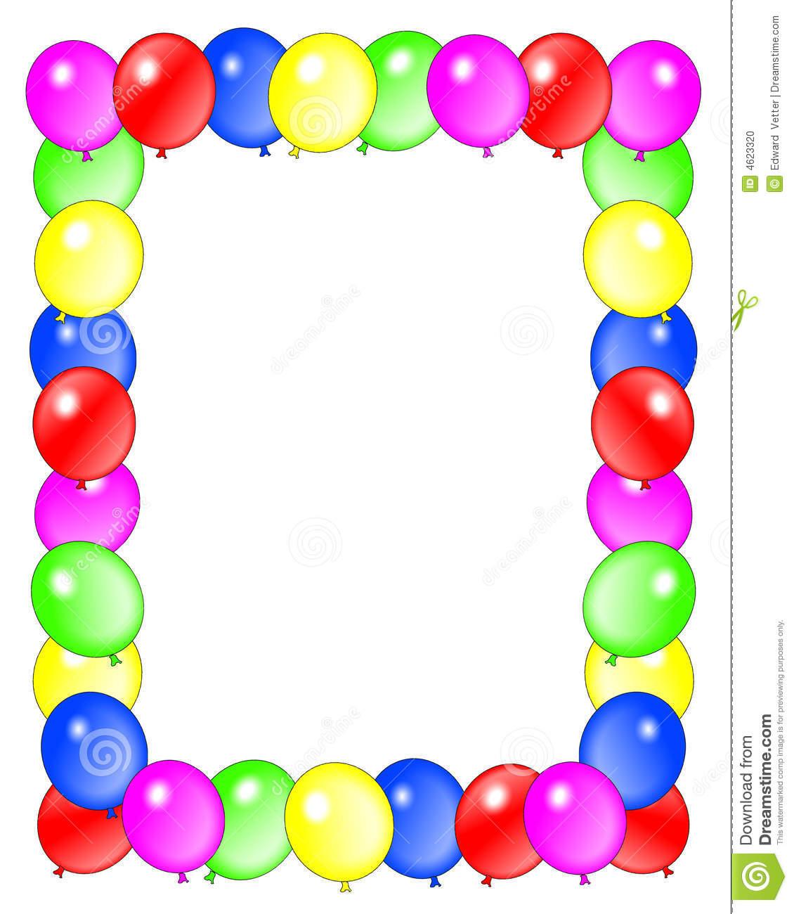 birthday-clip-art-borders-bir - Birthday Border Clip Art