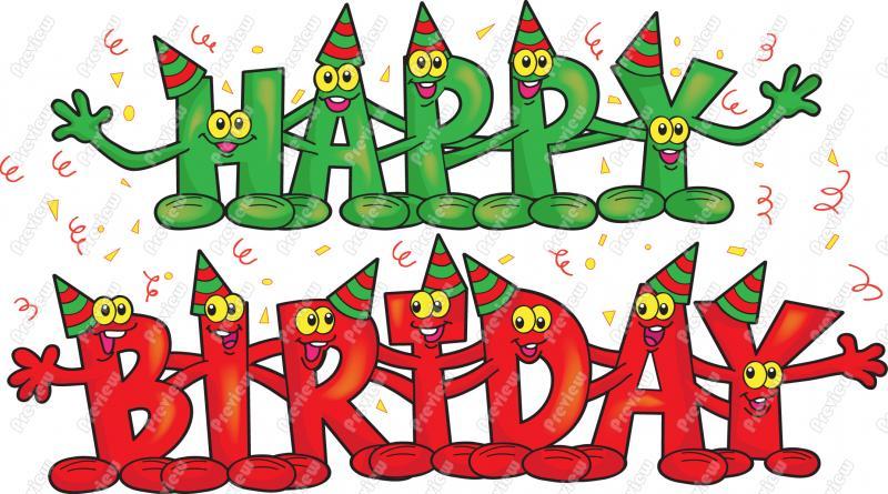 Birthday Clip Art Cute Happy .