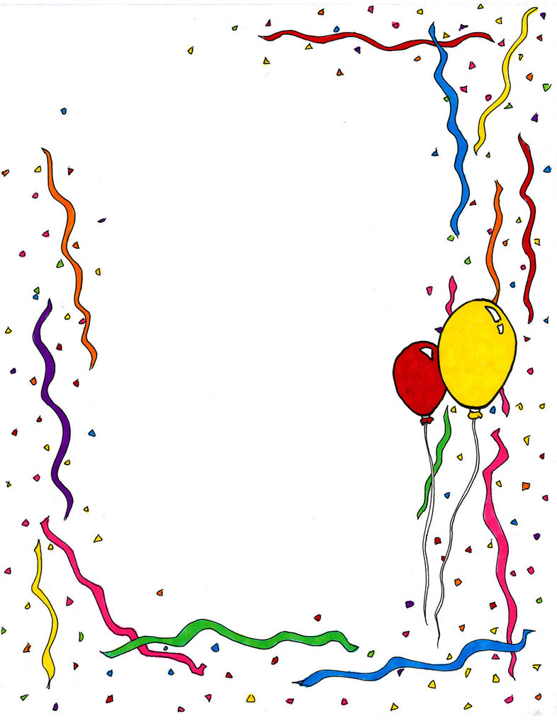 Birthday Clipart Free Birthda - Birthday Clip Art Borders