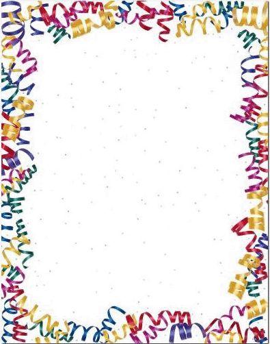 Birthday Confetti Border Clip Art | Confetti Border Png Confetti streamers border
