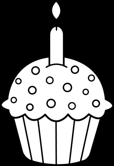 Birthday Cupcake Clip Art Black And White Download Free Birthday
