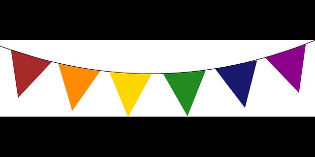Birthday Flag Banner Clipart - .-Birthday flag banner clipart - .-6
