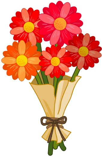 Birthday Flowers Clip Art Top - Clip Art Free Flowers