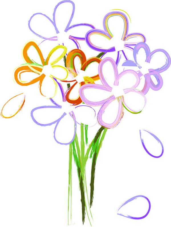 Birthday Flowers Clip Art Top 25 Images Cute | Download Free Word