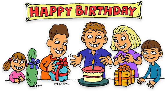 birthday party children - Clipart For Birthday