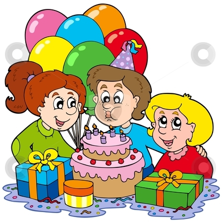 Birthday party clipart images .