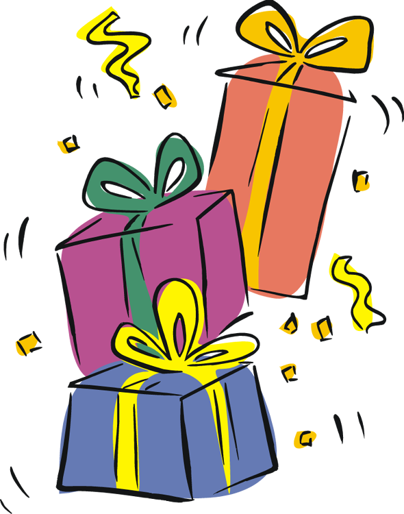 Birthday Present Clip Art .. - Birthday Present Clipart