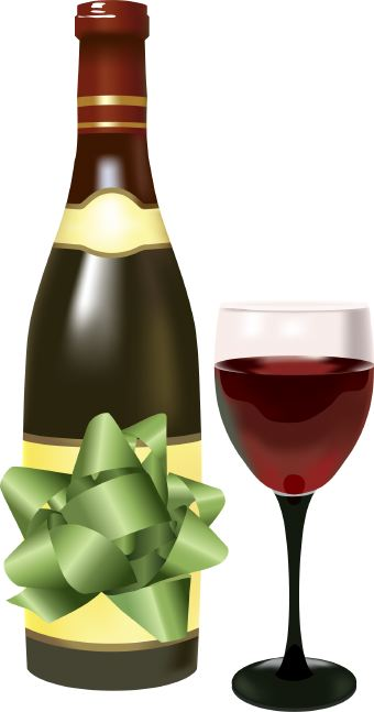 Birthday Wine Clipart