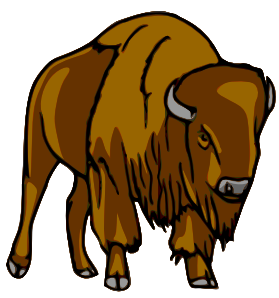 Bison Clip Art-Bison Clip Art-1