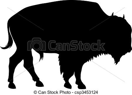 ... Bison - Abstract vector illustration of buffalo