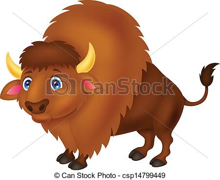 Bison cartoon Clipartby Tigatelu9/1,385;-Bison cartoon Clipartby Tigatelu9/1,385; Bison cartoon - Vector illustration of Bison cartoon-17