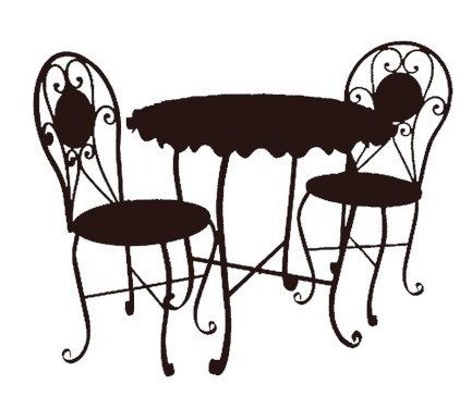 bistro cafe furniture set black clip art-bistro cafe furniture set black clip art graphics image royalty free commercial use | Flair on 3rd | Pinterest | Cafe furniture, Furniture and Clip art-13