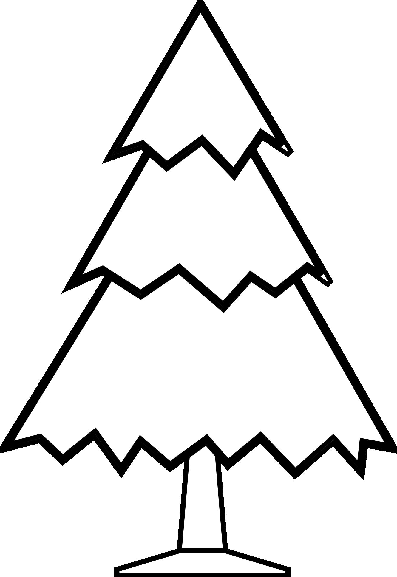 black and white oak tree clipart