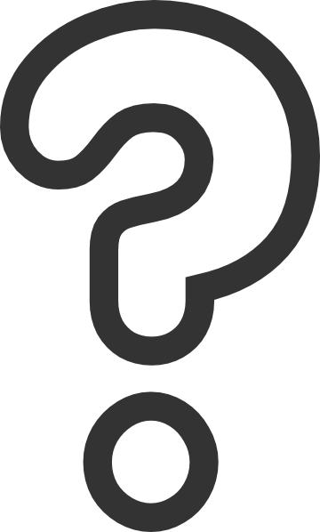 black and white question mark clipart