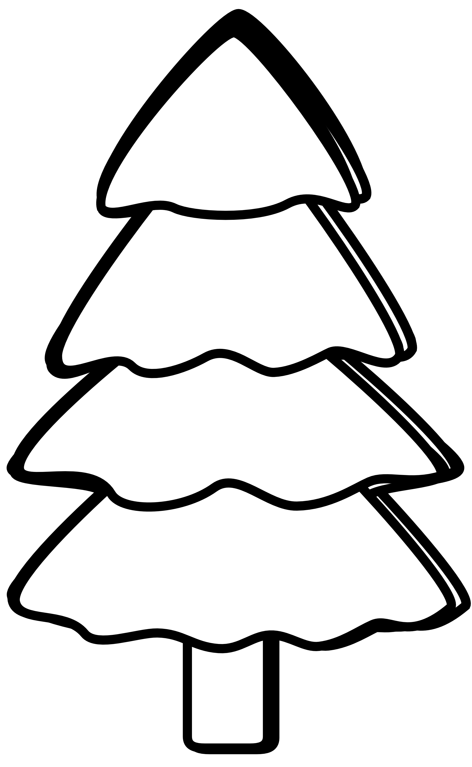 black and white tree clipart - Tree Clip Art Black And White