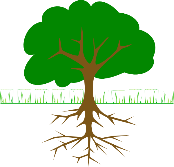 Black And White Tree With Roots Clipart-black and white tree with roots clipart-2