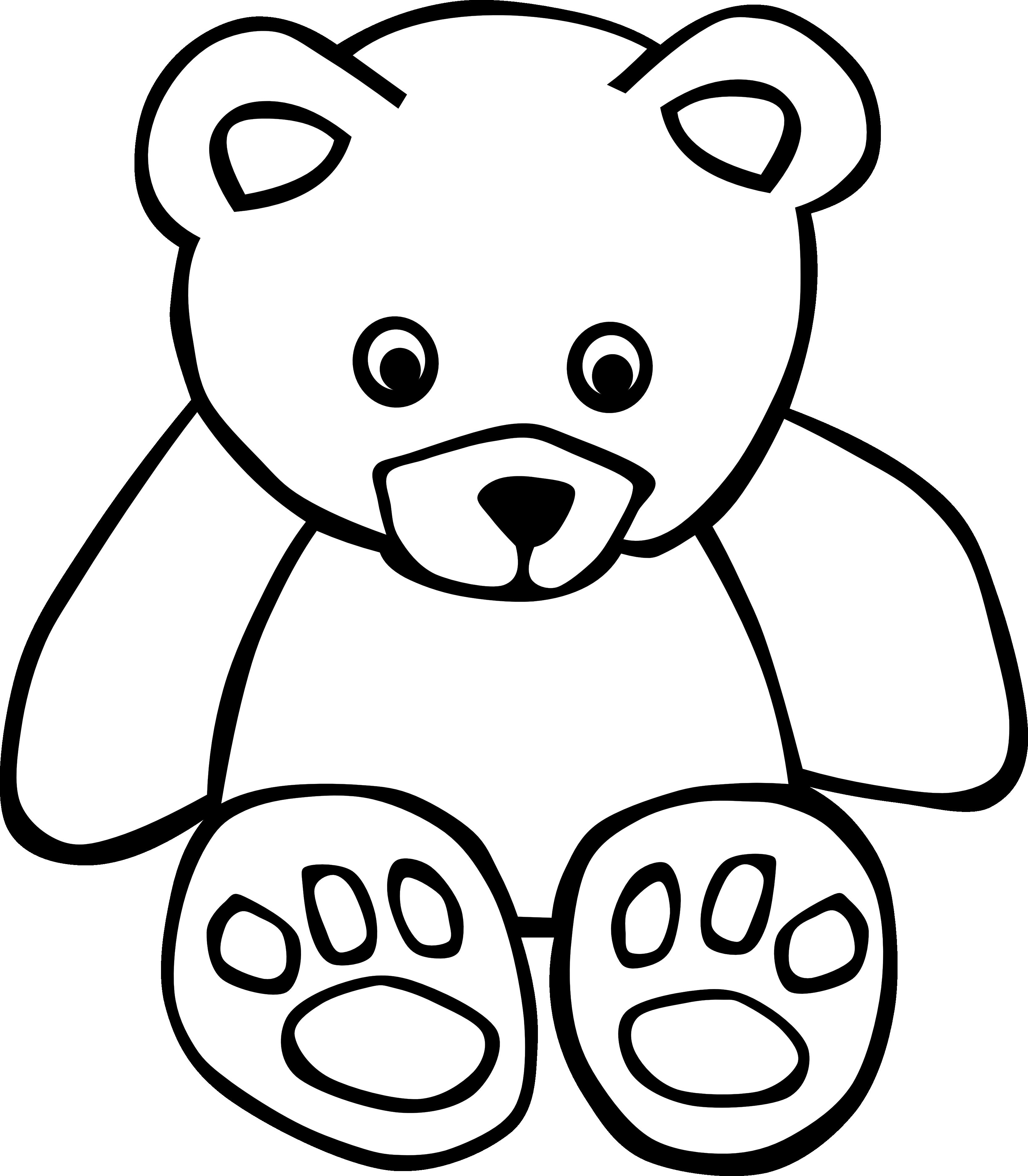 Black Bear Clipart u0026middo - Teddy Bear Clip Art Free