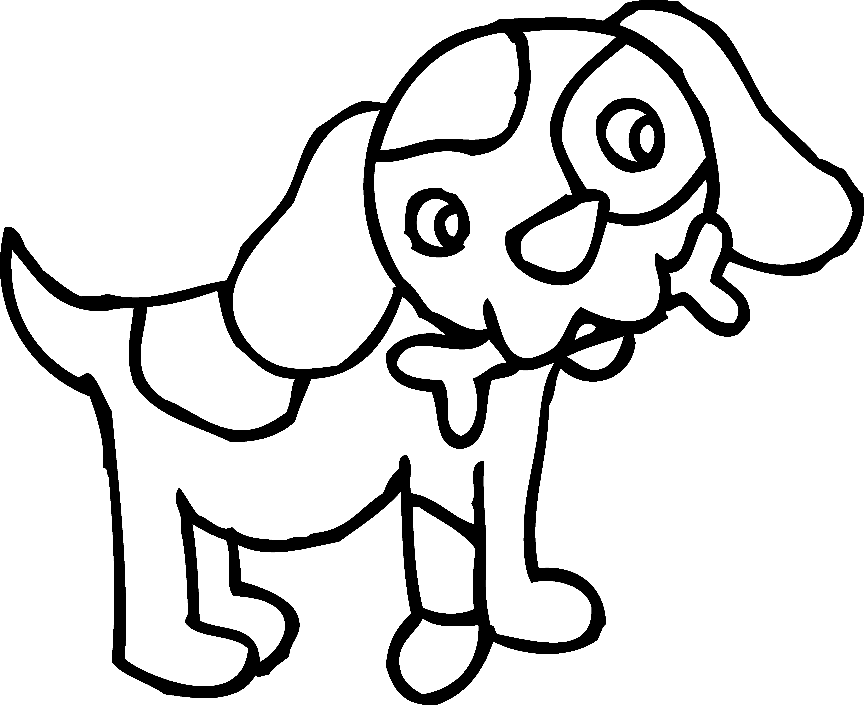 black dog bone clipart