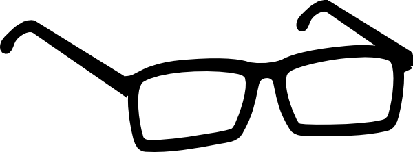 black glasses clipart