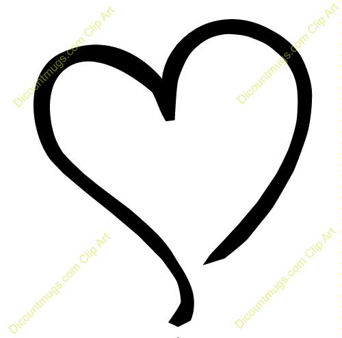 black outline heart clipart-black outline heart clipart-11