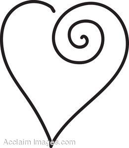 Black Outline Heart Clipart-black outline heart clipart-16