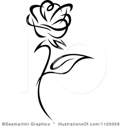 Black Rose Clipart - Rose Clipart Black And White