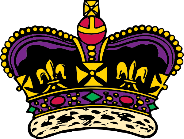 black royal crown clipart